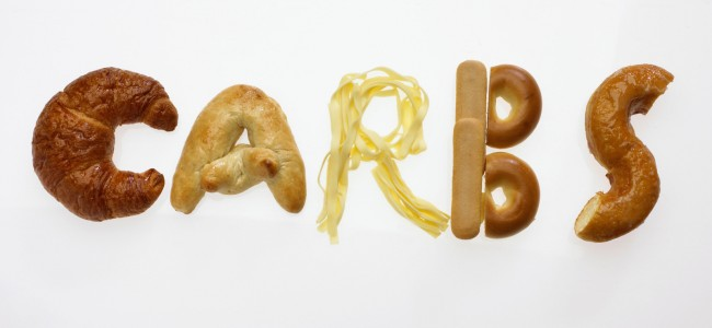 Assorted Carbohydrate Sources Spelling Out 'Carbs'